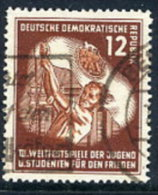 DDR 1951  Student Games 12 Pf.  Postally Used.  Michel 289  €13 - Used Stamps