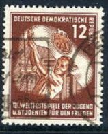 DDR 1951  Student Games 12 Pf.  Postally Used.  Michel 289  €13 - [6] Democratic Republic
