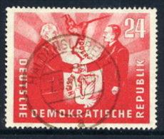 DDR 1951  German-Polish Friendship 24 Pf.  Postally Used.  Michel 284  €34 - Used Stamps