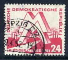 DDR 1951 Leipzig Spring Fair 24 Pf.  Postally Used.  Michel 282  €20 - Used Stamps