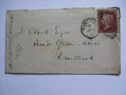 GB VICTORIA 1879 COVER KINGTON DUPLEX TO DROITWICH TIED WITH 1D PLATE 204 - 1840-1901 (Victoria)