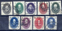 DDR 1950 Academy Of Science Set Except 16 Pf.  Postally Used.  Michel 261-66, 268-70  €115 - Used Stamps
