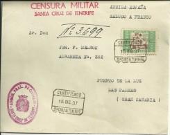 ESPAÑA - CANARIAS - CARTA CON CENSURA MILITAR - 1931-Today: 2nd Rep - ... Juan Carlos I