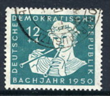DDR 1950 Bach Bicentenary 12+4 Pf.  Postally Used.  Michel 256  €12 - [6] Democratic Republic