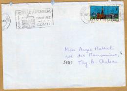 Enveloppe Brief Cover Vignette Hôtel D'Arenberg Braine-le-Comte à Thy-le-Château - Postage Labels