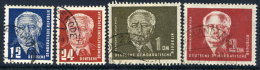 DDR 1950 Pieck Definitive To 2 DM.  Postally Used.  Michel 251-54  €20 - Used Stamps