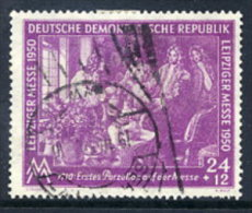 DDR 1950 Leipzig Spring Fair 24+12 Pf..  Postally Used.  Michel 248  €20 - Used Stamps