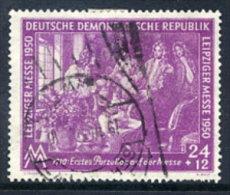 DDR 1950 Leipzig Spring Fair 24+12 Pf..  Postally Used.  Michel 248  €20 - [6] Democratic Republic