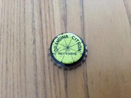 """ancienne Capsule de soda """"ORANGINA CITRON PASTEURIS�"""" (int�rieur li�ge)"""