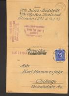 Alliierte Besetzung 75 Pfg. Ziffer Auf Auslandsbrief Nach Amerika Aus Barth Stralsund V.1947 - Gemeinschaftsausgaben