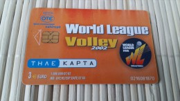 Phonecard Volley Ball 2 Scans Used - Sport