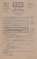 69 4787 LYON RHONE 1941 Forgerie FORGES ET CHAINERIES DU RHONE Rue Part Dieu MARQUE BACO BOIS - France