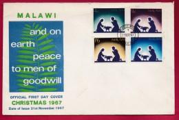 MALAWI, 1967, Mint FDC, Christmas, Mi 76-79   ,F999 - Malawi (1964-...)