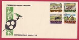 SWAZILAND, 1982, Mint FDC, Sugar Industry, Mi 407-410 , F985 - Swaziland (1968-...)