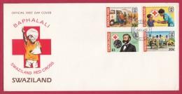 SWAZILAND, 1982, Mint FDC, 50 Years Red Cross, Mi 411-414 , F999b - Swaziland (1968-...)