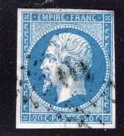 Napoléon III  N° 14A (Variété, POSTFS) Avec Oblitèration Losange  TB - 1862 Napoléon III