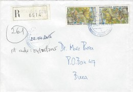 Cameroun Cameroon 2015 Dizangue Index1 Elephant Gorilla Tourism Registered Domestic Cover - Kameroen (1960-...)