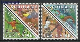 Surinam 2000 Mi Par1741-1744 MNH - Football, Athletics, Swimming, Tennis - Ete 2000: Sydney