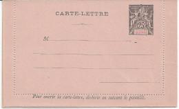 GUYANE - ENTIER POSTAL CARTE LETTRE 25c - NEUF - LUXE - Neufs