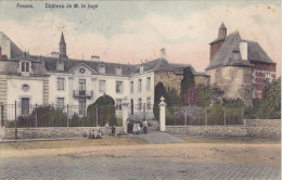 Fosses - Château De M. Le Juge (animée, Colorisée, Edit. Hainaut-Rossomme 1910) - Fosses-la-Ville