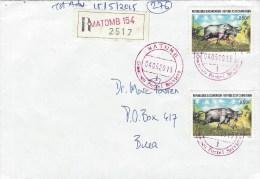 Cameroun Cameroon 2015 Matomb Index1 Buffalo Registered Domestic Cover - Kameroen (1960-...)