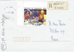 Cameroun Cameroon 2015 Nguti World Cup Football USA Registered Domestic Cover - Kameroen (1960-...)