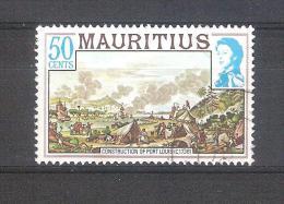 Mauricio 1978-1 Sello Usado-Construcción De Port Louis - Maurice (1968-...)