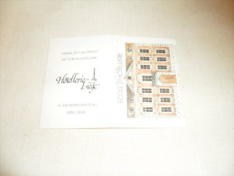 ANCIEN CALENDRIER DE POCHE  1983  / PUB  ECOLE HOTELLERIE  LIEGE - Calendriers