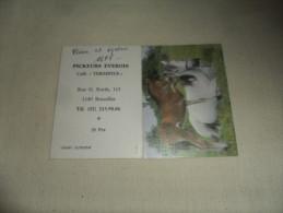 ANCIEN CALENDRIER DE POCHE  1988  / PUB  CAFE TERMINUS BXL / PICKEURS EVEROIS - Calendriers