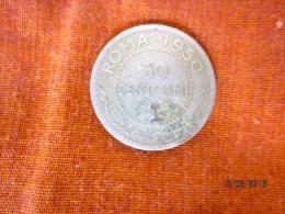 Somalia AFIS: 50 Centesimi 1950 (silver) - Somalie