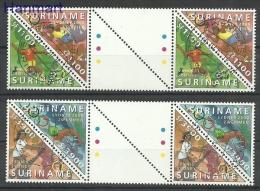 Surinam 2000 Mi Gut1741-1744b Cancelled - Tennis, Swimming, Football, Athletics - Ete 2000: Sydney