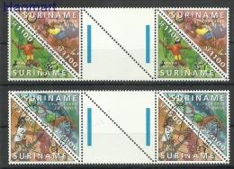 Surinam 2000 Mi Gut1741-1744a Cancelled - Athletics, Swimming, Football, Tennis - Ete 2000: Sydney