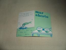 ANCIEN CALENDRIER DE POCHE  1988  / PUB  MAR ABERTO REVUE INFO ET CULT. PORTUG. - Calendriers