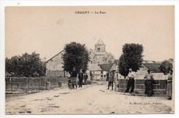 CRUGNY (51) - LE PONT - ATTELAGE DE CHIEN - Autres Communes