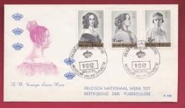 BELGIUM, 1962, FDC, P105, TBC Prevention, MI1293-1295, F1352 - 1961-70