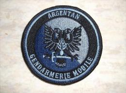 Ecusson Patch Gendarmerie Mobile Escadron 23/3 D´Argentan BV Bleu - Ecussons Tissu