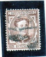 1876 Spagna - Alfonso XII - 1875-1882 Regno: Alfonso XII