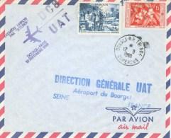 Cameroun Cameroon 1960 Douala Première Liaison Par Jetliner DC8 UAT 12 Septembre 1960 FFC Cover - Kameroen (1960-...)