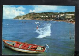 P4869 GABICCE MARE ( Pesaro Urbino ) SPIAGGIA, BEACH, PLAGE + Bollo Filatelico: DIRITTI DI EDIZIONE, NICE STAMP !!! - Altre Città