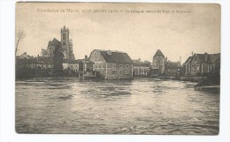 INONDATION DE MORET 21 / 27 JANVIER 1910 LE LOING EN AMONT DU PONT LE 21 JANVIER - Floods