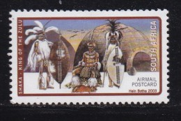 RSA, 2003, Mint Never Hinged Stamp(s) , Shaka Zulu King, 1569, #9094 - South Africa (1961-...)