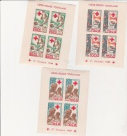TOGO -3  BLOCS FEUILLET CROIX ROUGE N° 2 A 4 NEUFS XX -NON DENTELES - ANNEE 1959 - Togo (1960-...)