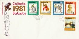 BARBADOS   Enveloppe  FDC  1981 - Barbades (1966-...)