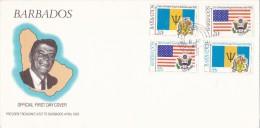 BARBADOS  3 Enveloppe  FDC  1982 - Barbades (1966-...)