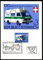 Austria Vienna Wien 1981 / First Aid / Coach / Horses / Medicine / Ambulance / Stamp Exhibition - Primo Soccorso