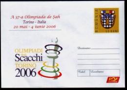 Schach Chess échecs Ajedrez - Rumänien Romana Romania - Ganzsache 2006 - Schaken
