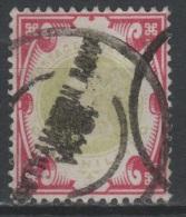 GRANDE-BRETAGNE  - 1887-1900 - Obl. - Y&T 104  - Valeur 100€ - 1840-1901 (Victoria)