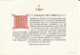 ELP. ENRIQUE RIFA A RIROLA , S.I. - Documentos Históricos