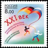 Russia 2004 German-Russian Youth Meeting Joint With Germany Event 1v Russian Stamp MNH Michel 1181 Sc#6845 Yvert 6809 - Childhood & Youth