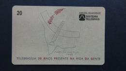 Brazil - Sistema Telebras - 1998 - 01-05/98 - 20 Unidades - Telebrasilia 30 Anos Presente Na Vida Da Gente - Used - Brasilien